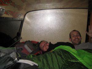 Bus en mode couchette