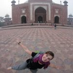 Choupi au Taj Mahal