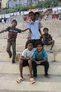 Enfants malicieux du Gange