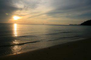 Coucher de soleil sur l'île de Tioman