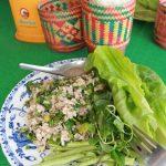 Sticky rice lao et poisson