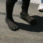 Chaussures à orteils des tireurs de pousse pousse