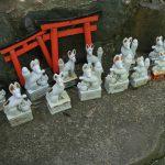 Statues de renard et toris