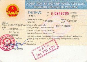 Visa vietnamien