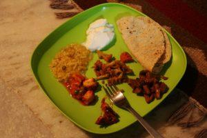 Premier repas indien chez Alysha