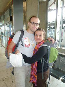 A l'aéroport : sacs enregistrés, yapluka!