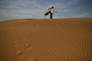 Yoga dans les dunes