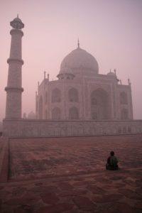 Taj Mahal à la tombée du jour