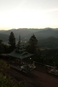 Mae Hong Son au sunset