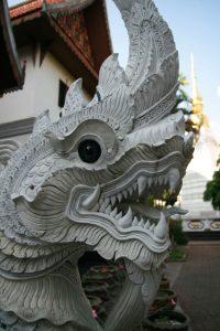 Dragon à l'entrée