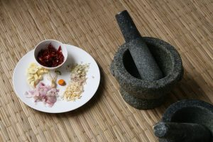 Ingrédients pour la pâte de curry