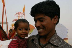 Sourire sur les ghats
