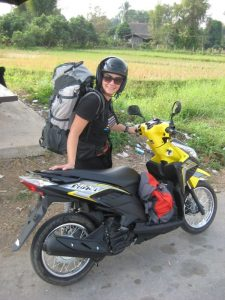 Choupi et notre scooter