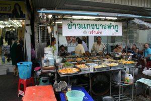 Stand de rue pour manger