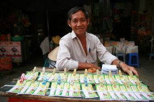 Vendeur de billets de loterie