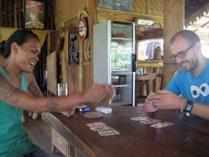 Jeu de cartes avec Opik