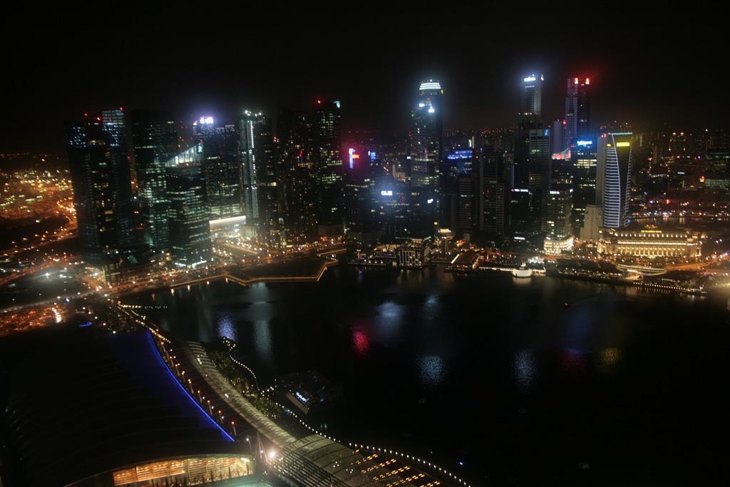 Vue depuis le Marina Bay Sands