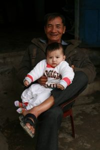 Papy heureux
