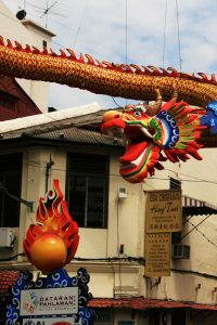 Dragon à l'entrée de Chinatown