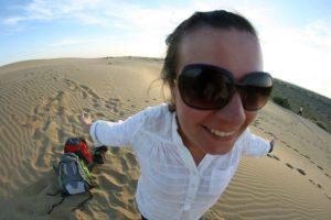 Choupi dans le désert