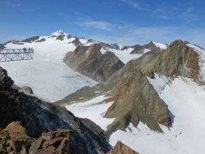 Passerelle sur la Wildspitze