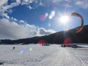 Kitesurfing sur le plateau